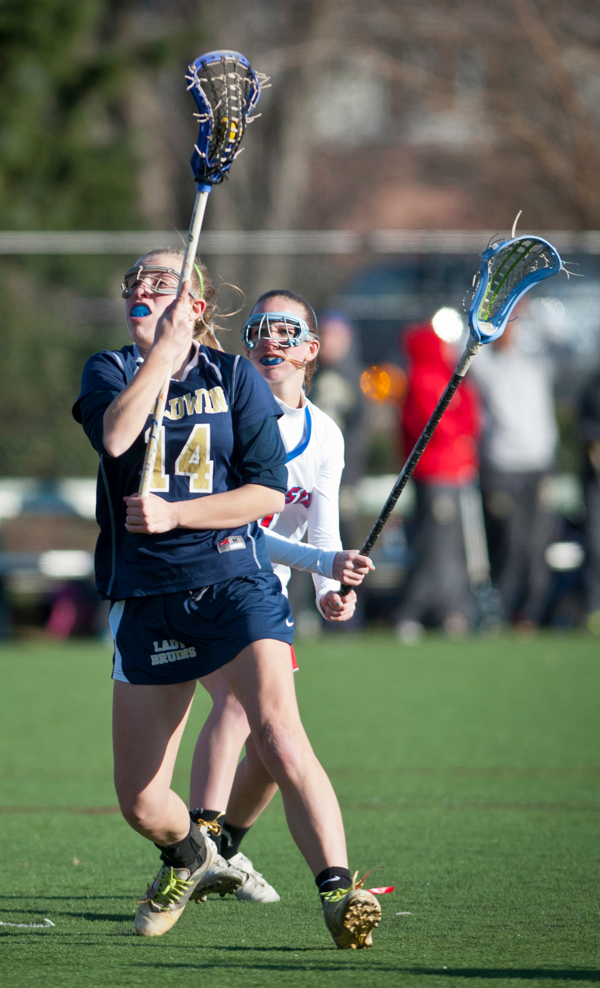 Sophomore Kelsey Cohen opened the season with four goals in Baldwin's 13-11 loss to Seaford.