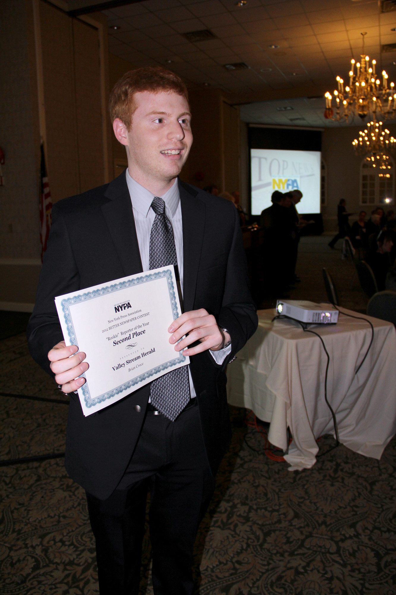 Reporter Brian Croce won second place in the Rookie Reporter of the Year category.