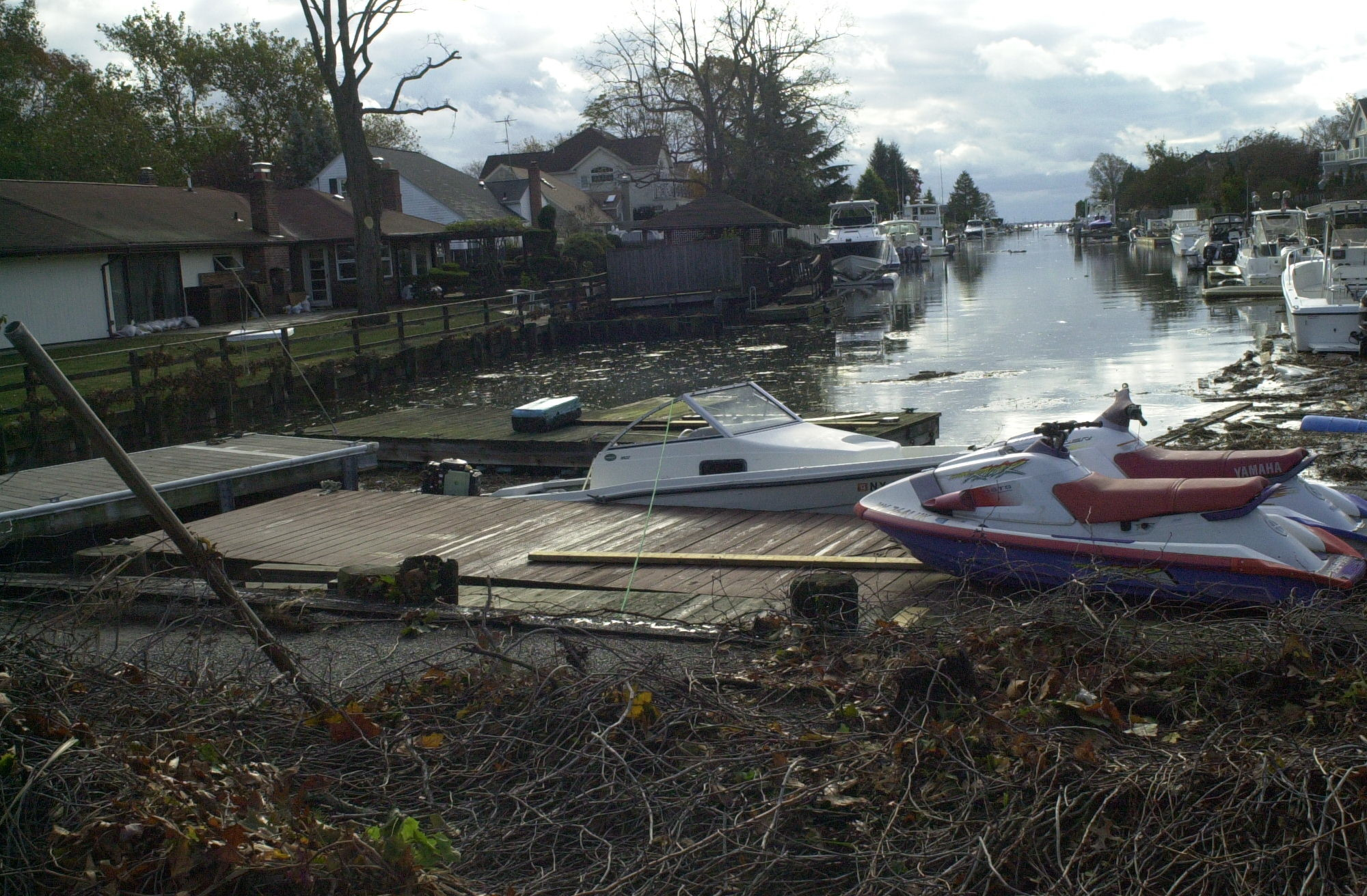During Hurricane Sandy, a 10-foot tidal surge raced up the canal that leads to Cammans Pond in south Merrick, scattering floating docks, personal watercraft and boats and causing flooding on local streets. Storm-drain flapper valves would have done nothing to stop that surge, said Brian Schneider, deputy commissioner of the Nassau County Department of Public Works.