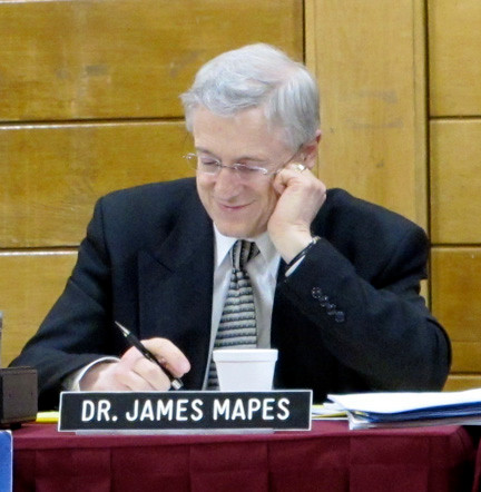 Dr. James Mapes, Baldwin's current 