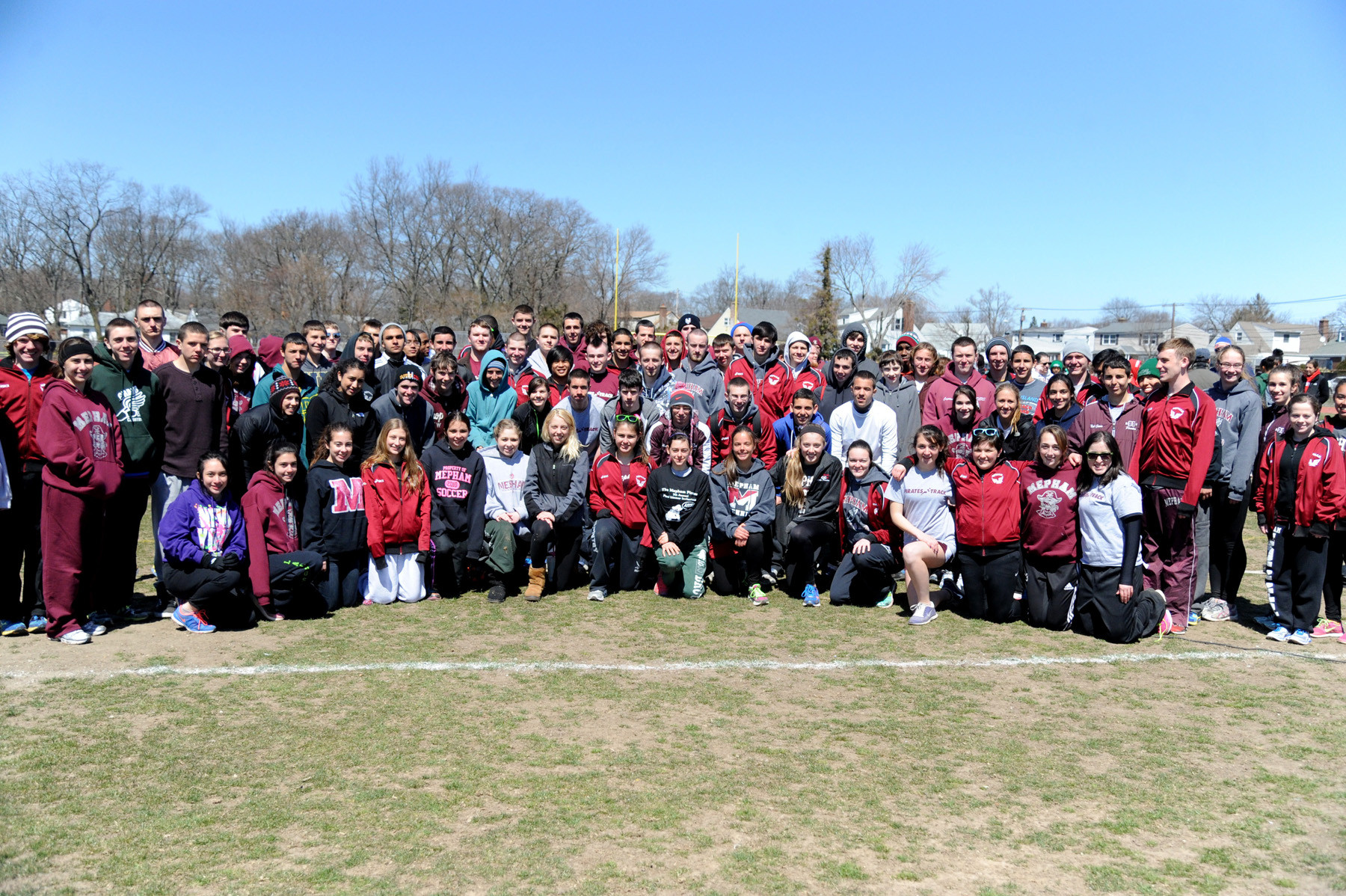 The Wellington C. Mepham High School track team organized and ran the Paul Limmer Invitational at their school.