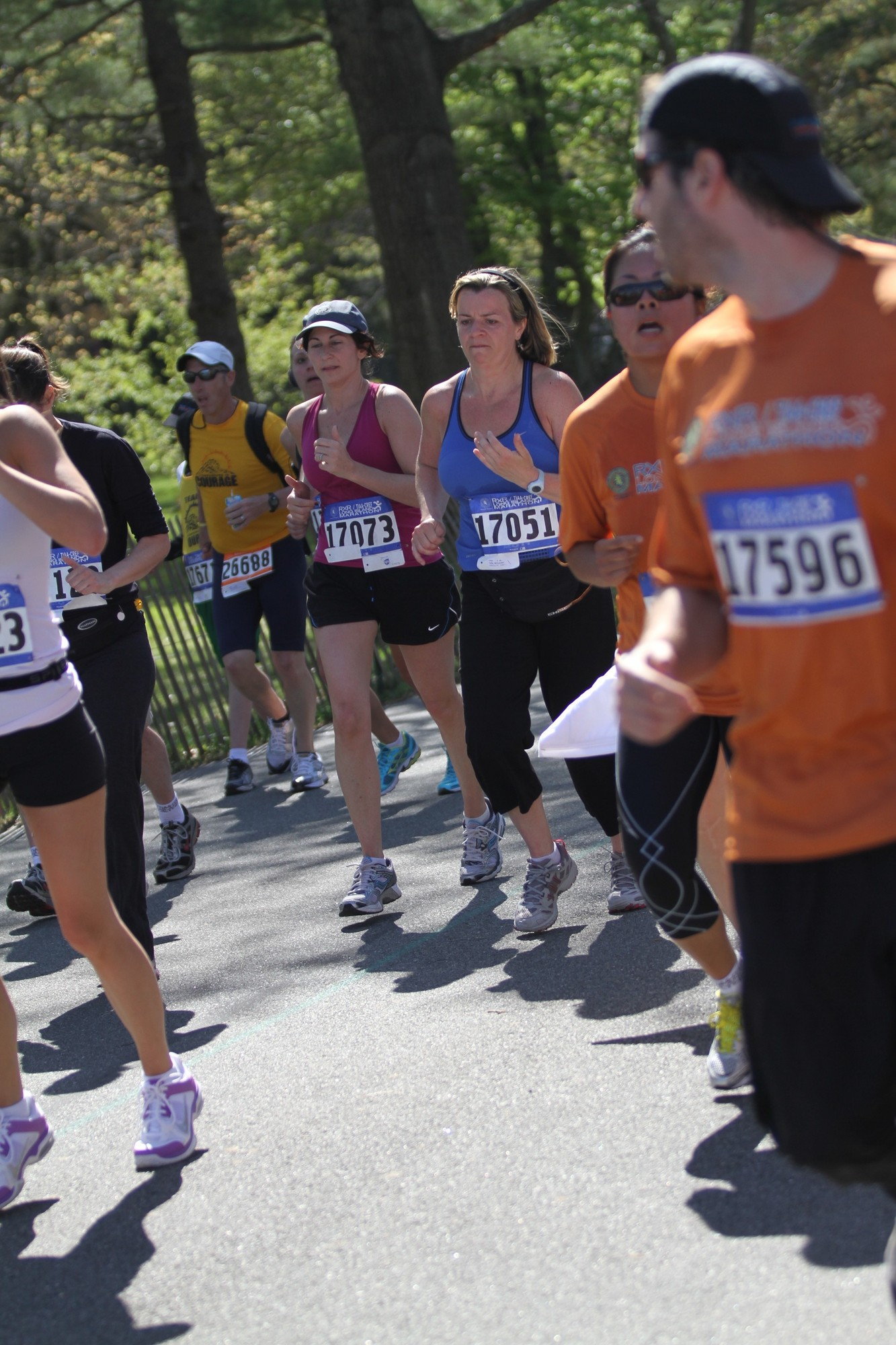 After a terror attack at the Boston Marathon on Monday, Nassau County Executive Ed Mangano said county officials are reviewing security plans for the annual RXR Long Island Marathon, which is to take place in central Nassau on May 5. Above, runners at the 2012 Long Island Marathon.