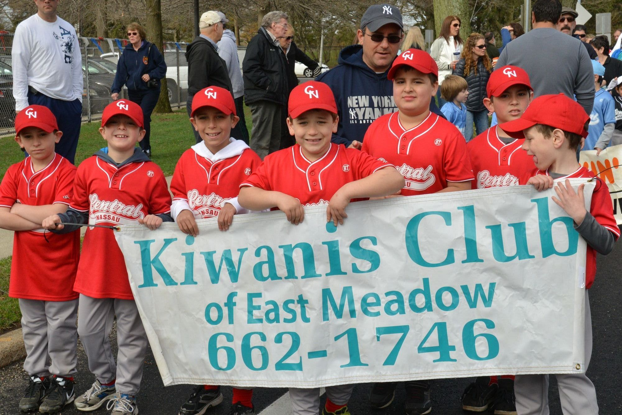 These excited marchers were sponsored by the East Meadow Kiwanis Club.