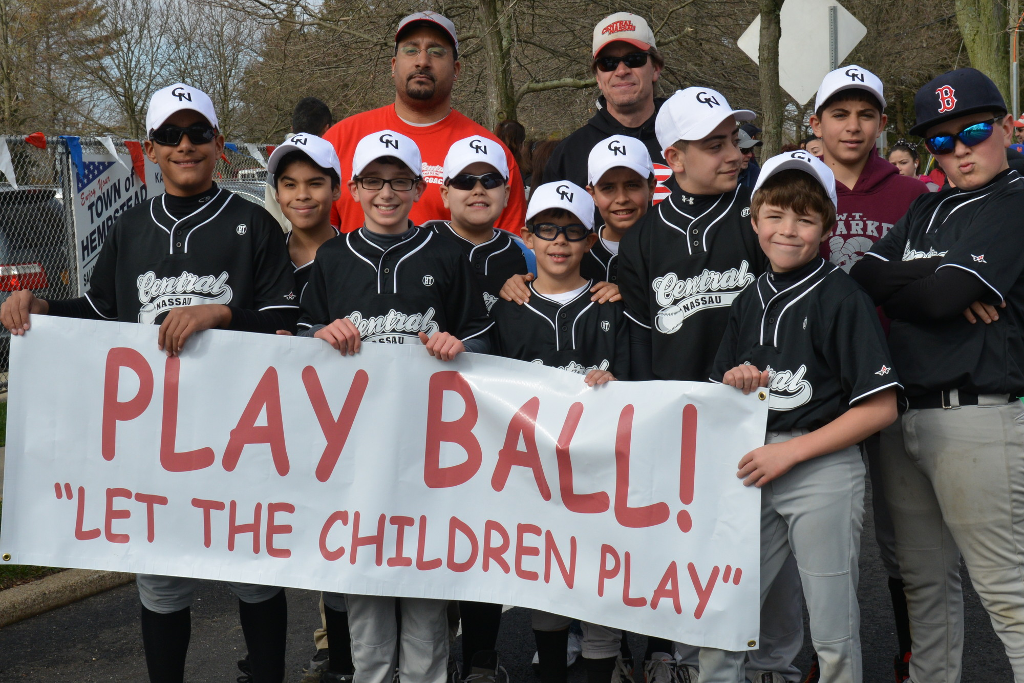 "It was time to ""Play ball!"" in Salisbury last Saturday as little leaguers marched down Carman Avenue to commence the 2013 season."