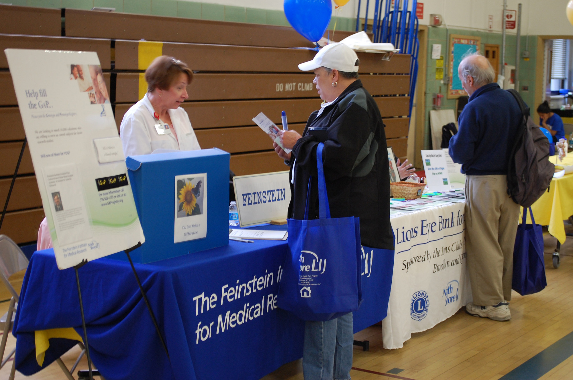 Residents were able to stop by any one of nearly 40 tables to get valuable health information on April 13.