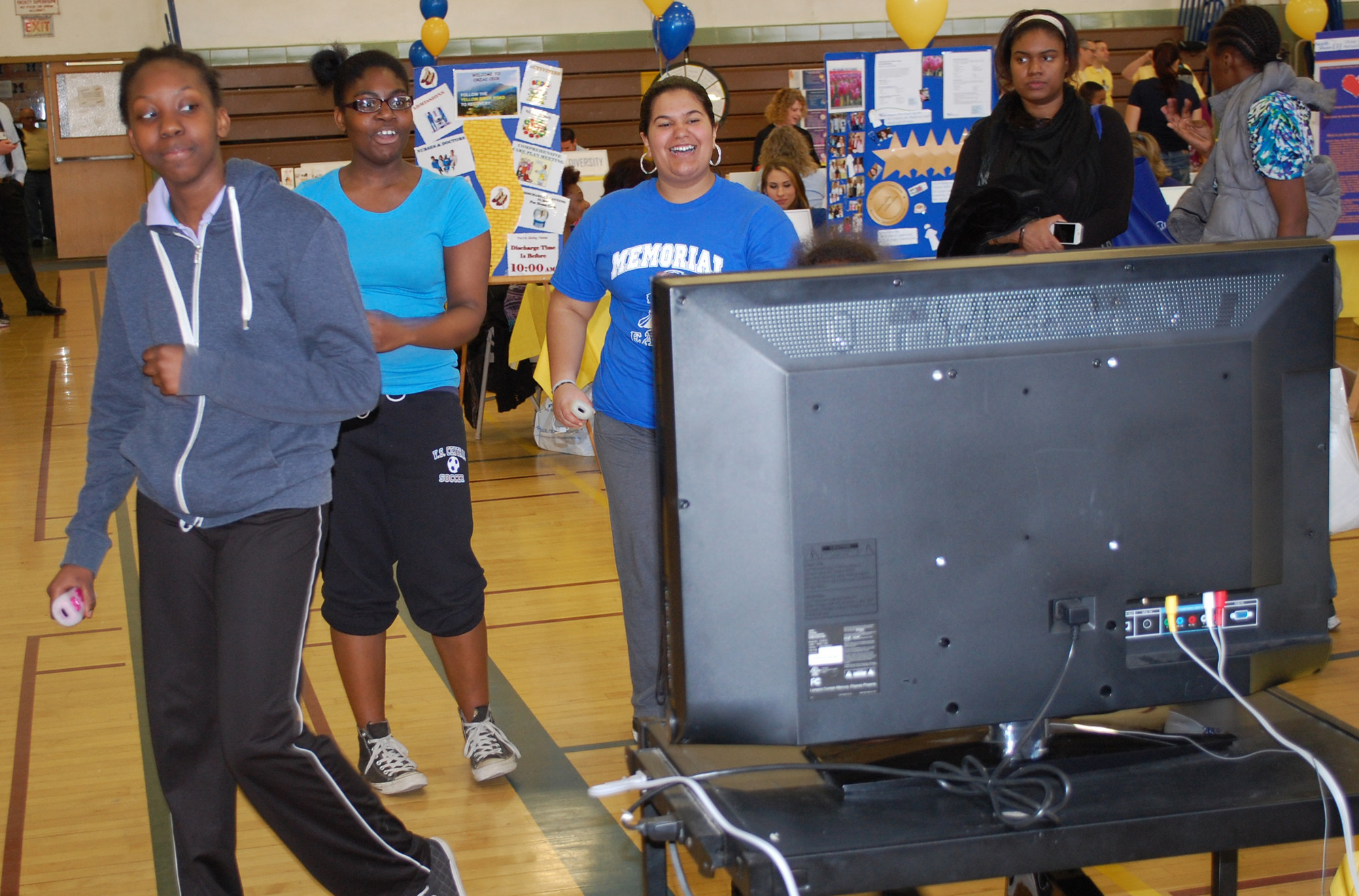 Visitors learned how the Nintendo Wii is used as a rehabilitation tool at the neighboring Orzac rehab center.