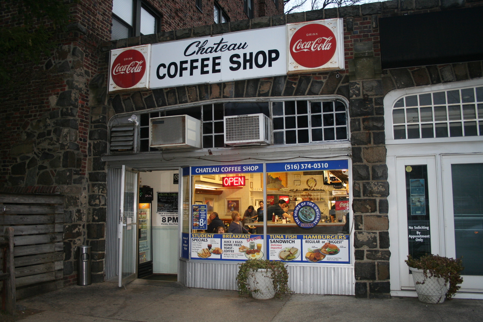 Chateau Coffee Shop in Woodmere has been in business since 1958 and is known for their burgers, roast turkey dinner, milk shakes and mish, a chopped salad.