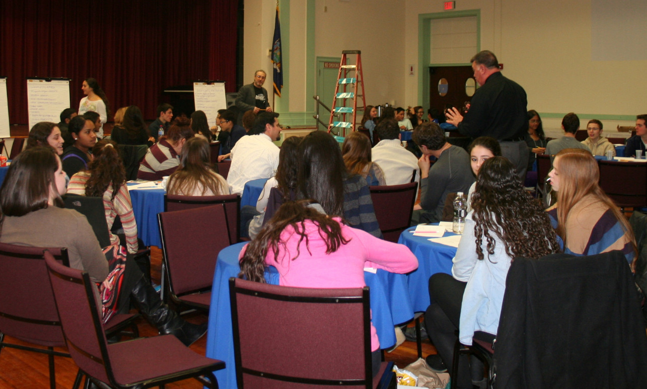 Students from Hewlett High School's Youth Leadership Forum met on April 12 to brainstorm ideas about how to make this year's Memorial Day parade one to remember.