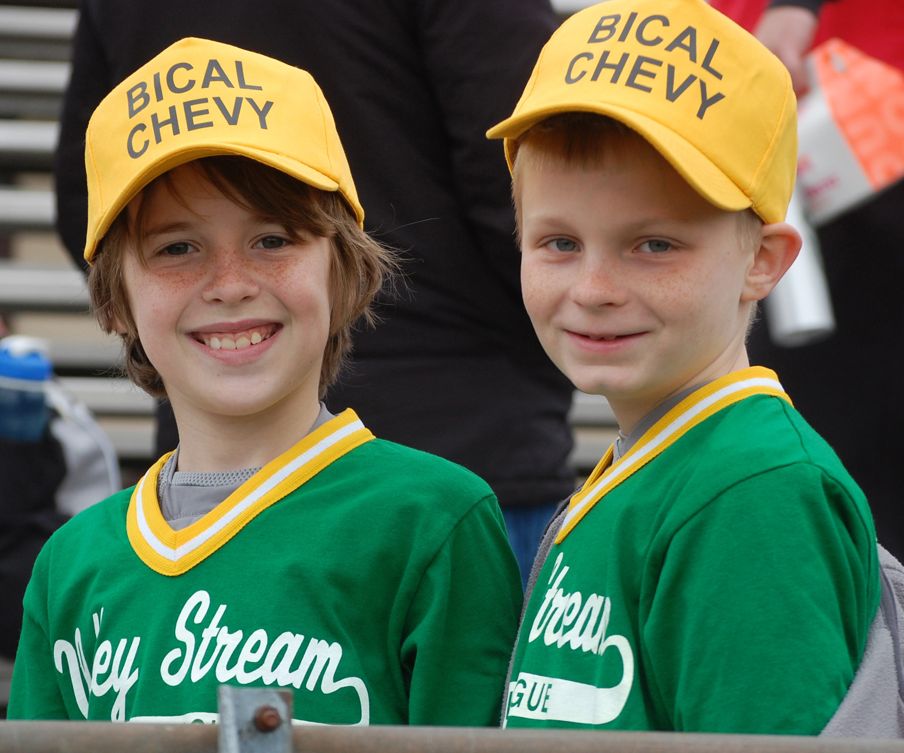 Jake Cresser, and Kyle Johnston, both 9, were excited for the start of baseball season.