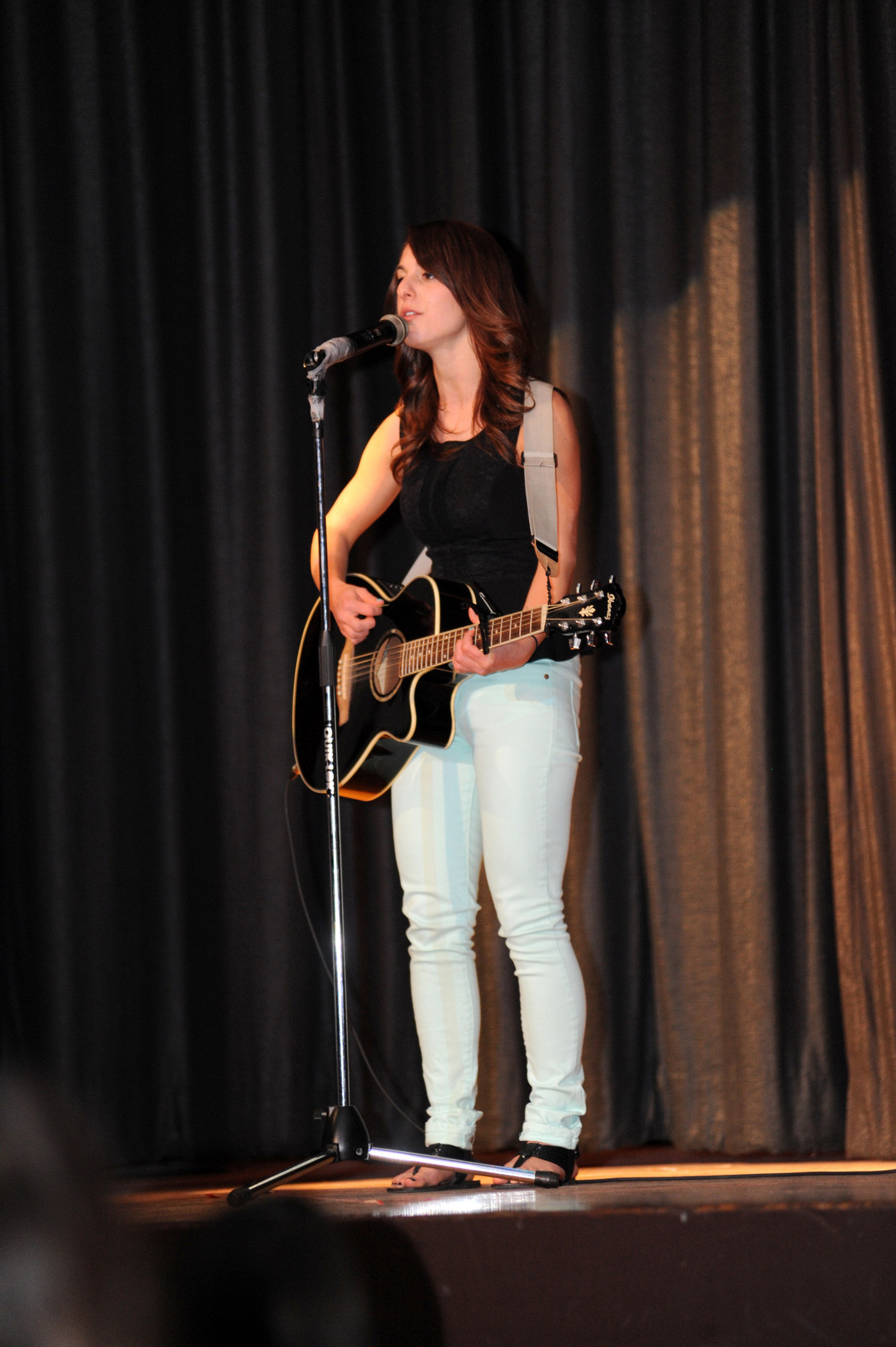 "Jess Gelbwaks performed with other Mepham musicians at ""Mepham's Got Talent."""