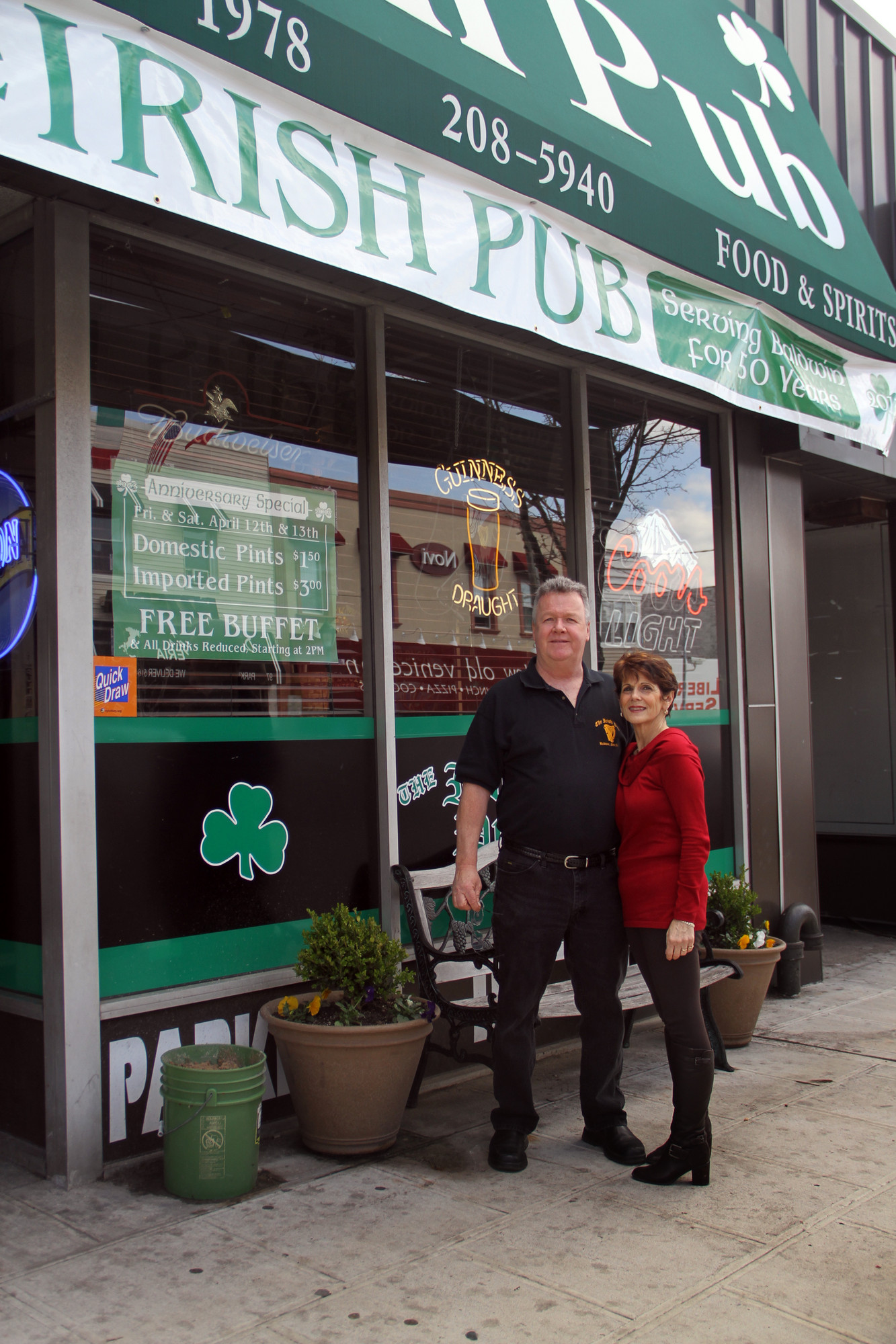 Irish Pub owners Jimmy and Angela Kearney celebrated the pub's 50th anniversary last week.