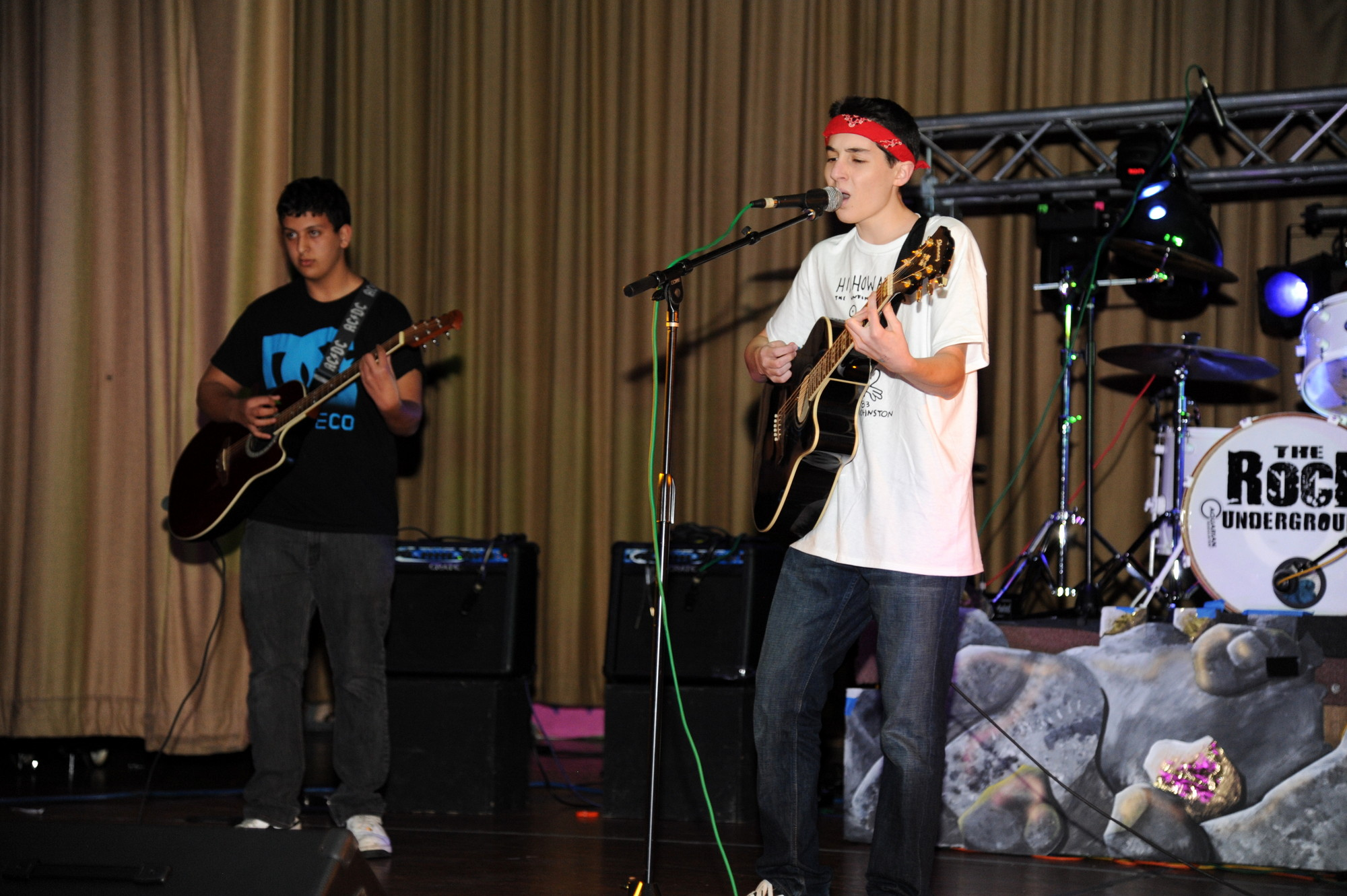 Brain Trust and Justin Neugeboren entertained the crowd at the Community Wellness Council's first battle of the bands fundraiser to support the substance-free Midnight Madness post-prom party.