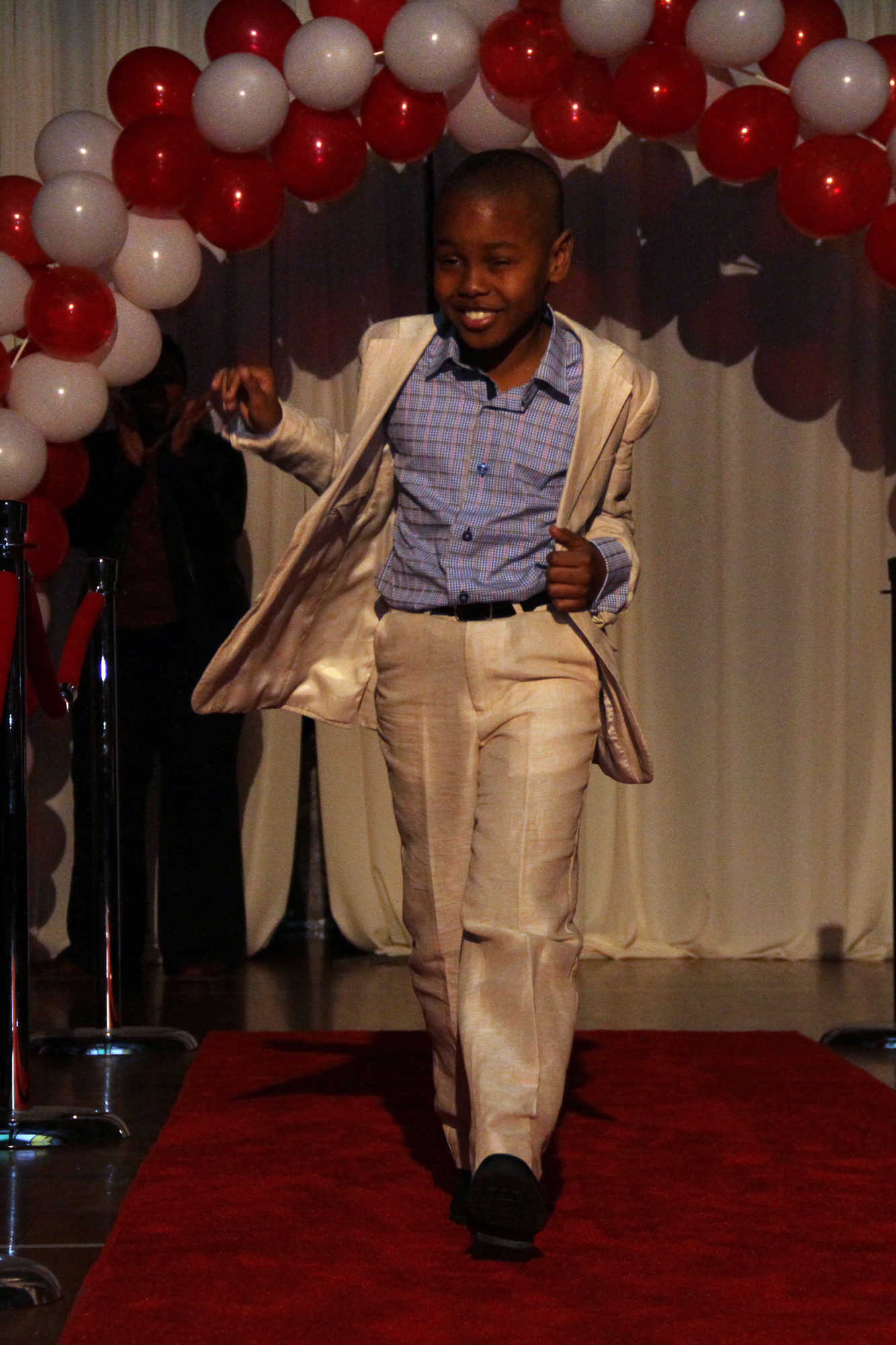 Gael D�Haiti worked the runway.