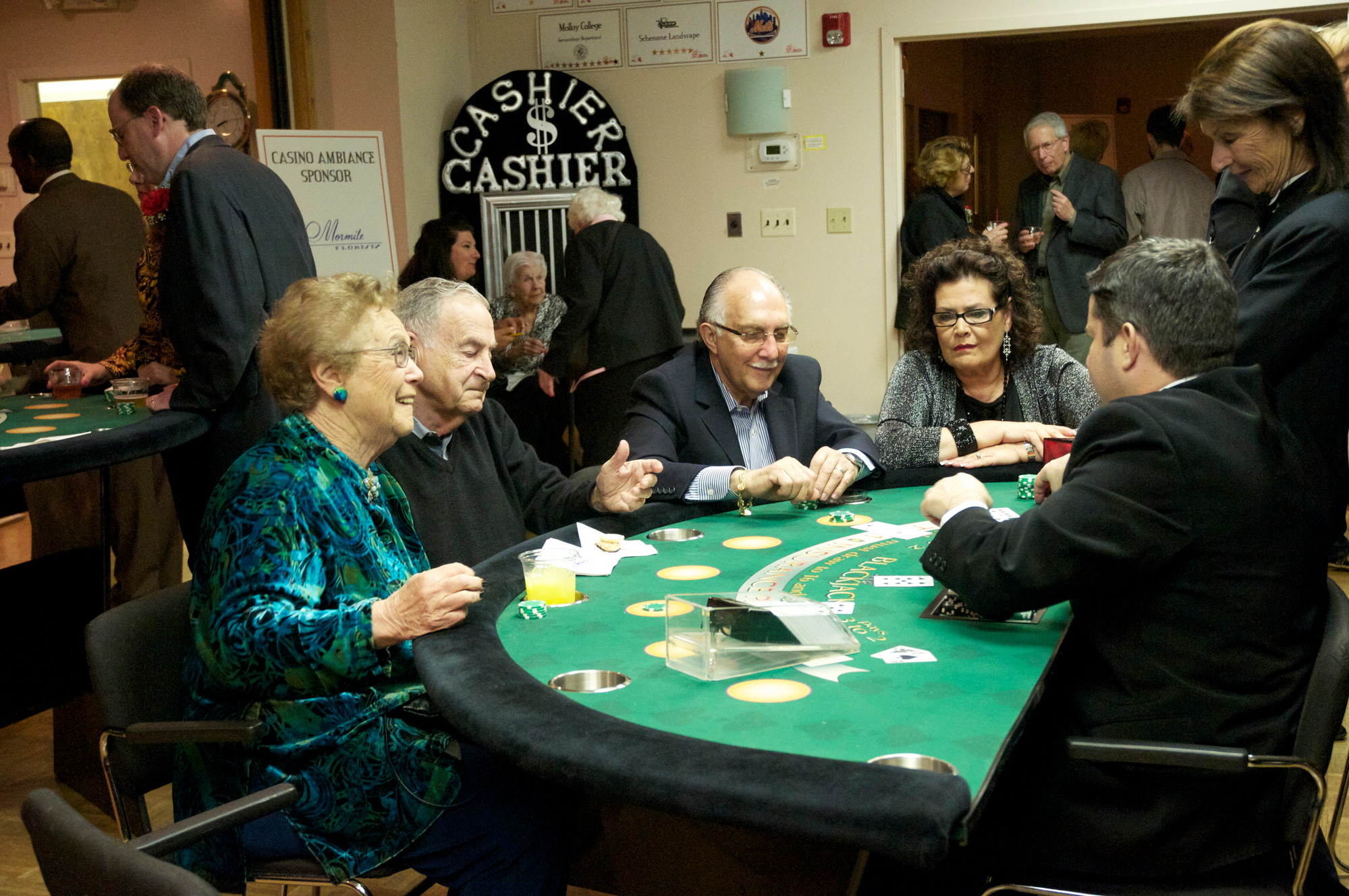 Residents came out last year to enjoy the Monte Carlo atmosphere and help raise money for the Sandel Center.