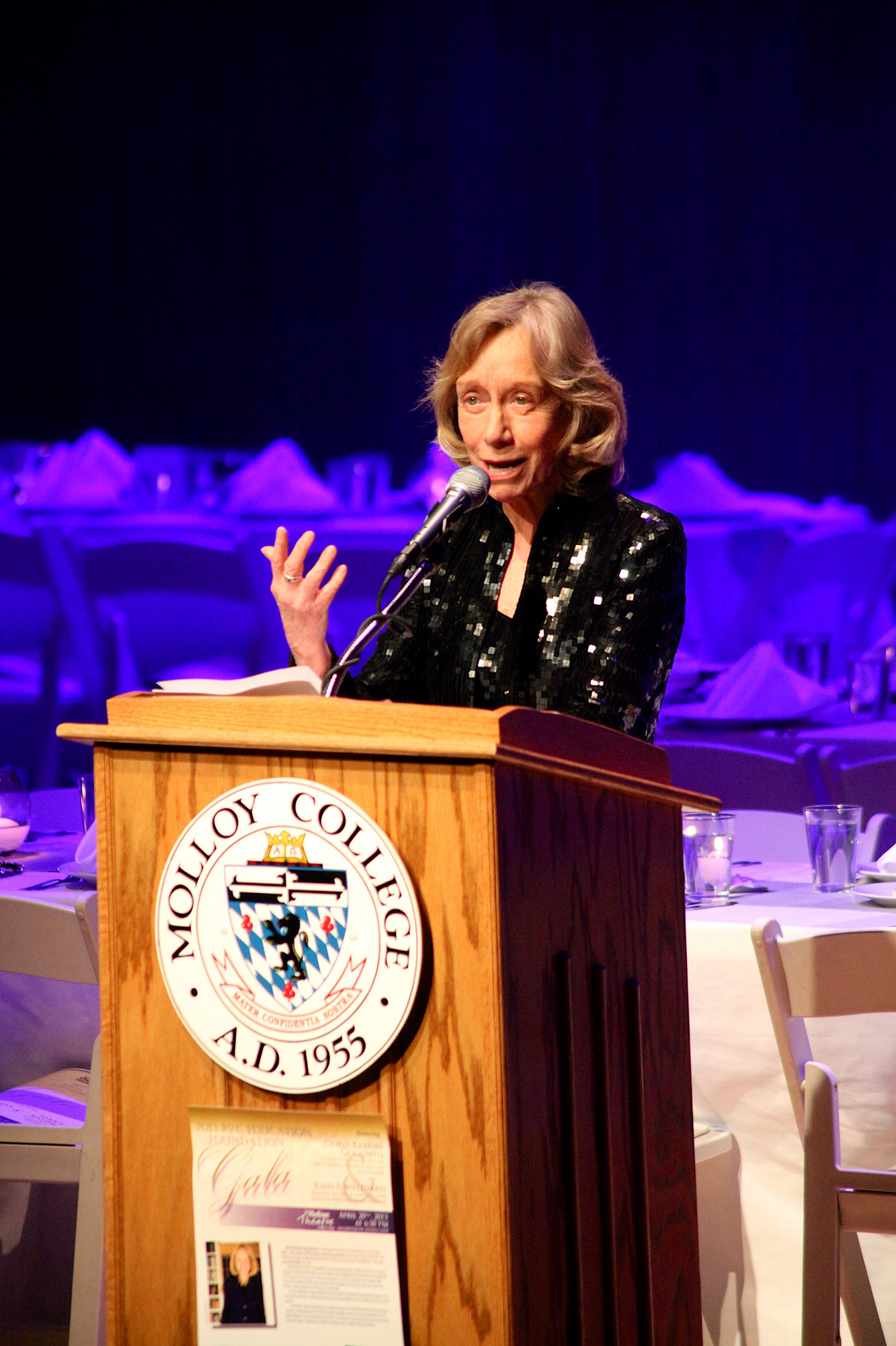 Doris Kearns Goodwin gave a speech after being honored.