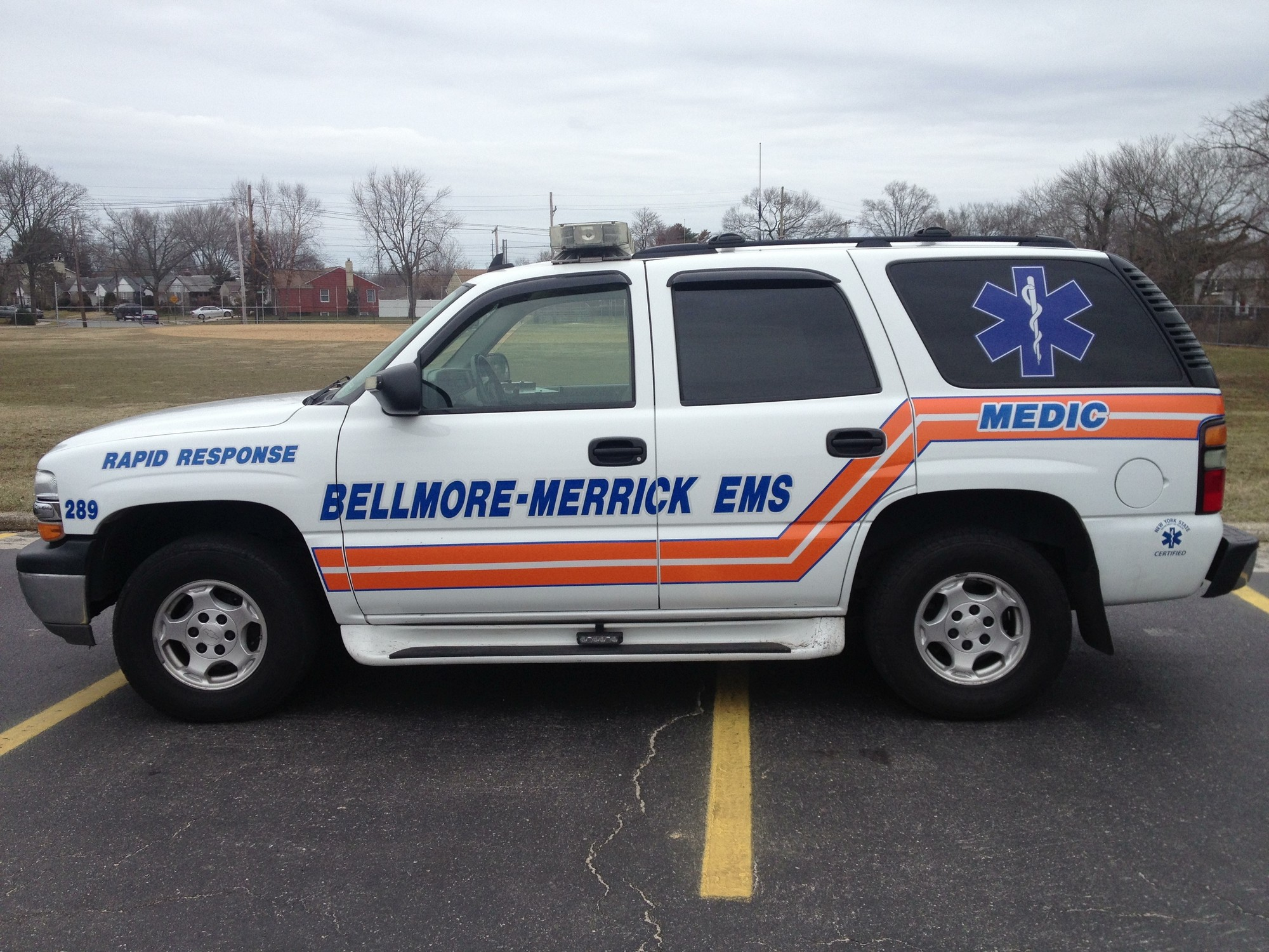 Emergency medical technicians from Bellmore-Merrick Emergency Medical Services are using this newly acquired rapid-response vehicle to rush to calls for help faster than they could with an ambulance.