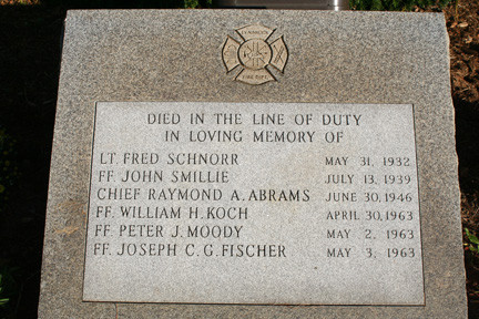 The LFD's Firefighters Memorial on Sunrise Highway and Earle Avenue