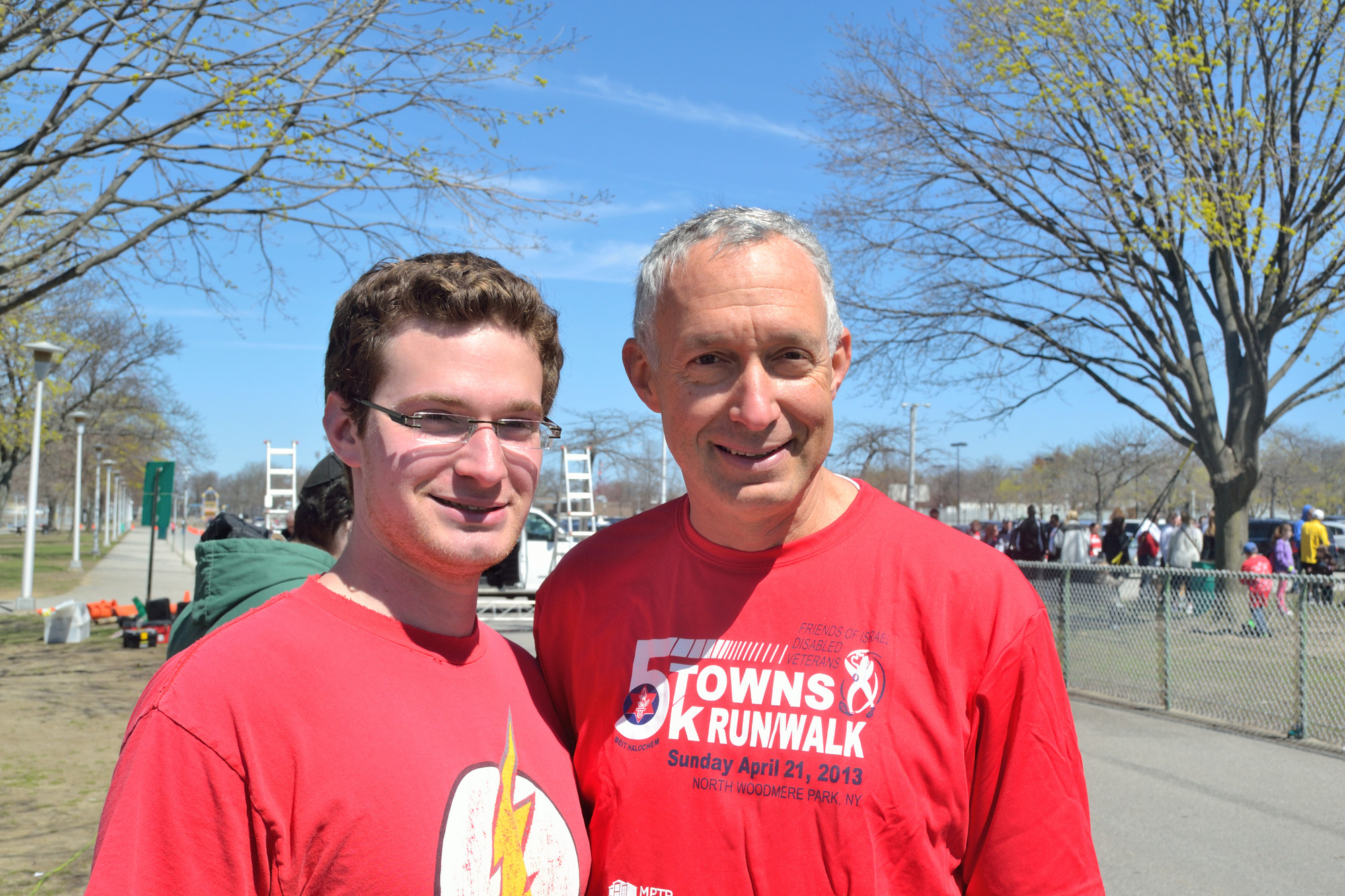 5K Run/Walk organizer Isaac Seinuk and son, Jared.