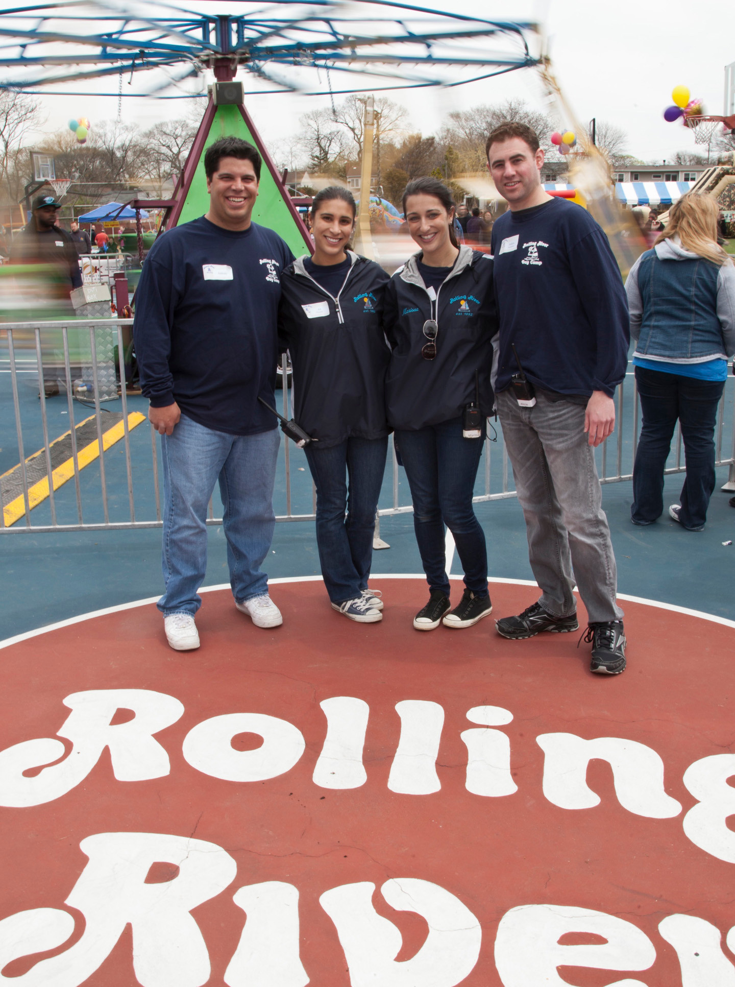 Rolling River staff enjoyed the day. Pictured from left were Anthony Bruno, Ali Goodman, Marisa Allaven and Andrew Liebowitz.