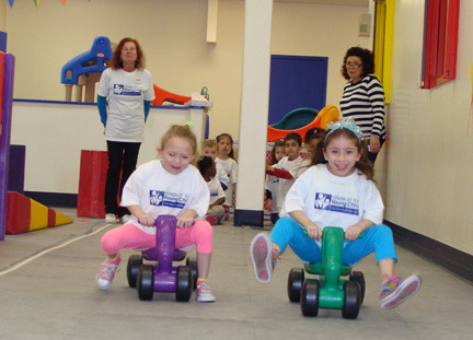 The wheels were turning fast during the relay race.