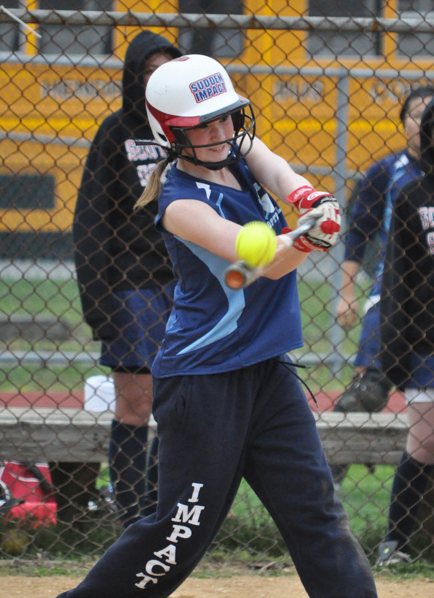 South Side's Katlyn Benincasa opened last Friday's game with a single and came around to score in an 8-5 loss to visiting Oyster Bay.