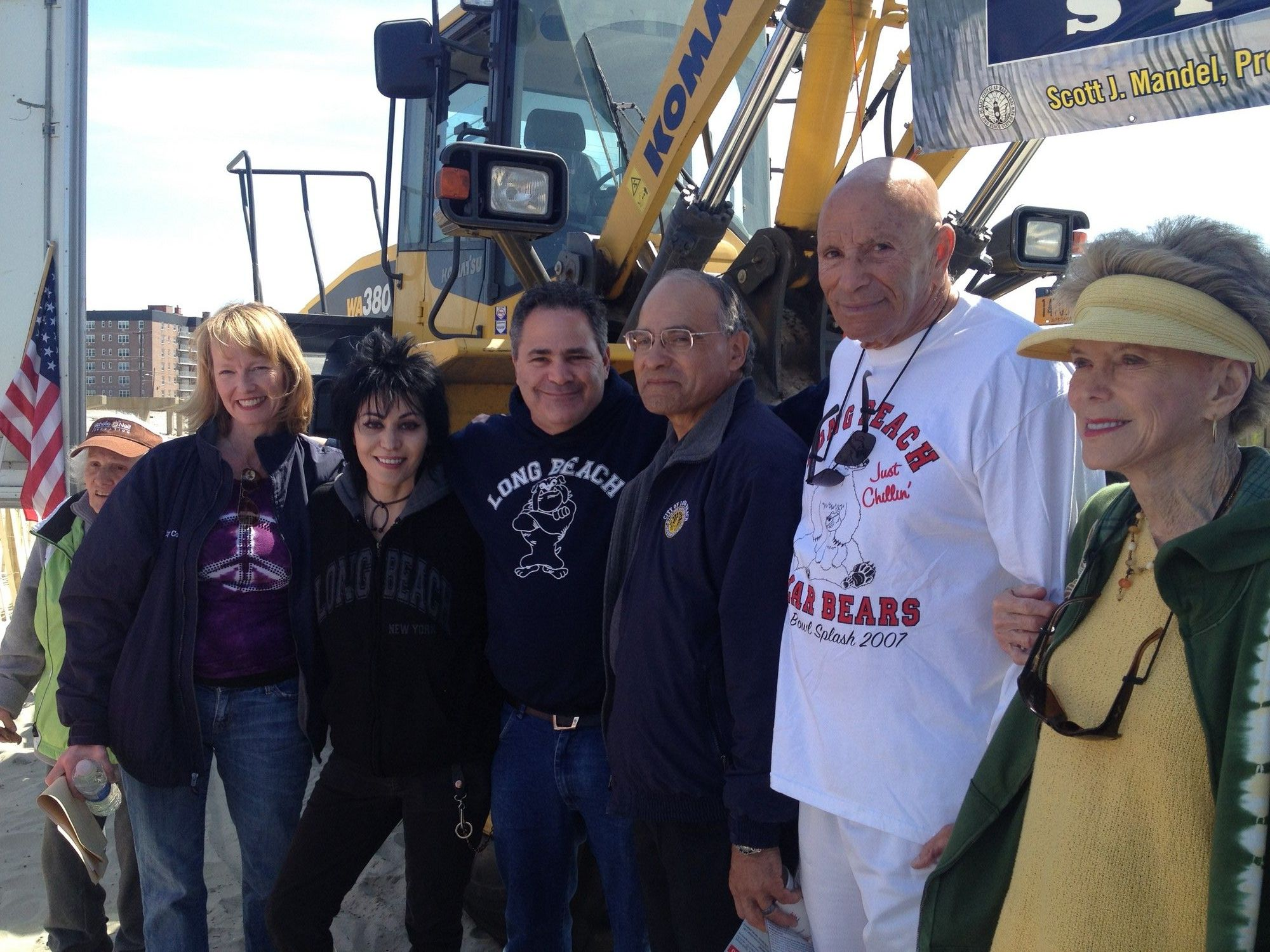 Councilwoman Eileen Goggin, left, Joan Jett, radio host Halftime Howie, Councilman Len Torres, Assemblyman Harvey Weisenberg and his wife, Ellen.