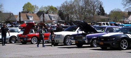 A wide variety of cars were lined up to show off their stuff at Belmont Racetrack in Elmont on April 21.