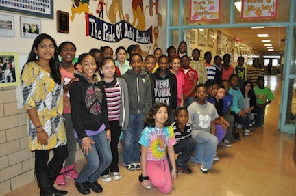 Sixth-grade students at Dutch Broadway were able to create projects that fused math and art elements.