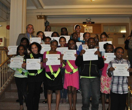 Dutch Broadway School sixth-graders were recognized for their participation in the Safety Patrol during the 2012-13 year on April 9.