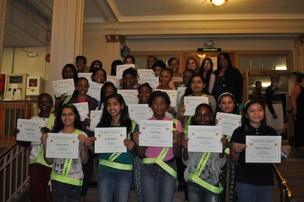 Sixth-graders from Alden Terrace School were presented with certificates to honor their participation in the school�s Safety Patrol.