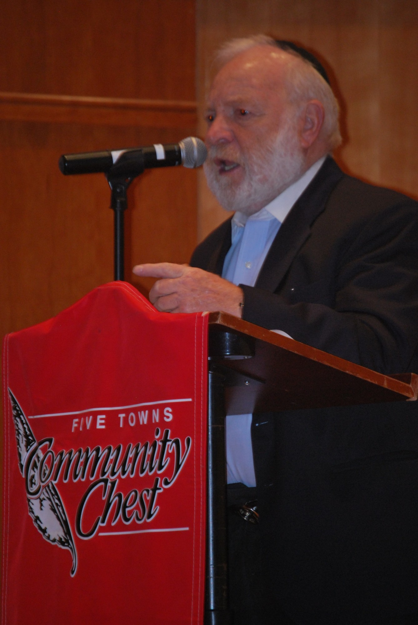 "Cedarhurst resident and Holocaust survivor Leo Zisman answered questions after the showing of the ""The Lion of Judah"" that chronicles his 2010 trip to Poland."