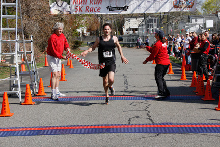 Sean Mahon, 27, of Merrick, came in first in the 5K. He finished with a time of 16:29.