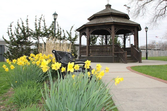 The gazebo, located in the Town Square at Veterans Memorial Park on the corner of East Meadow and Prospect Avenues, is considered one of the prized landmarks of the community. The square was designed and built by the East Meadow Chamber of Commerce.