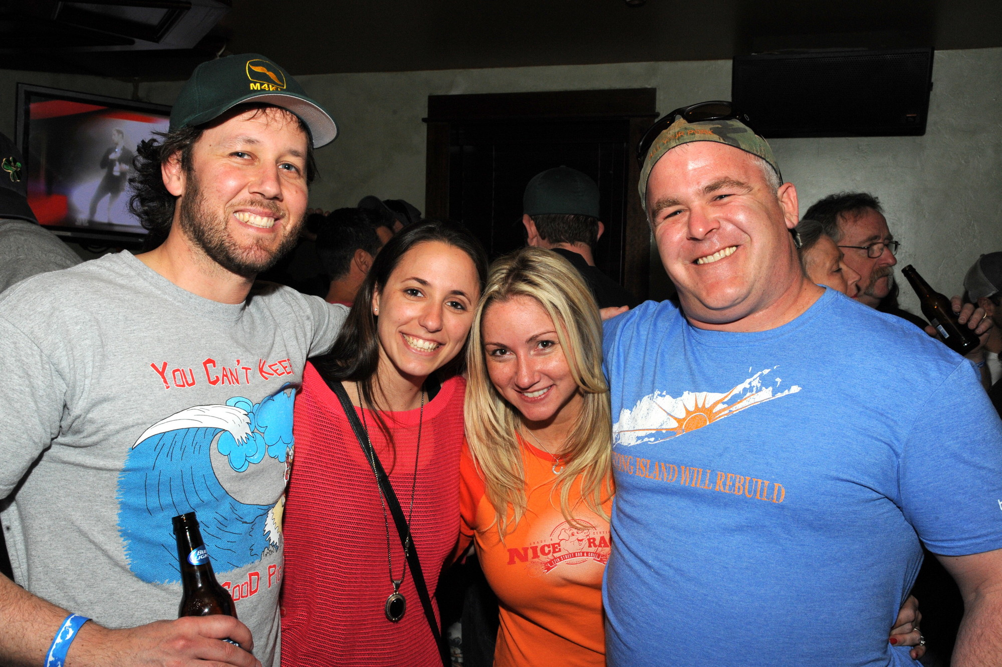 Billy and Jackie Kupferman, left, with Kelly and Sean Sullivan, owner of Swingbellys.