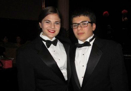 Siblings Felicya and Andrew Schwarzman performed at Carnegie Hall on the same day.