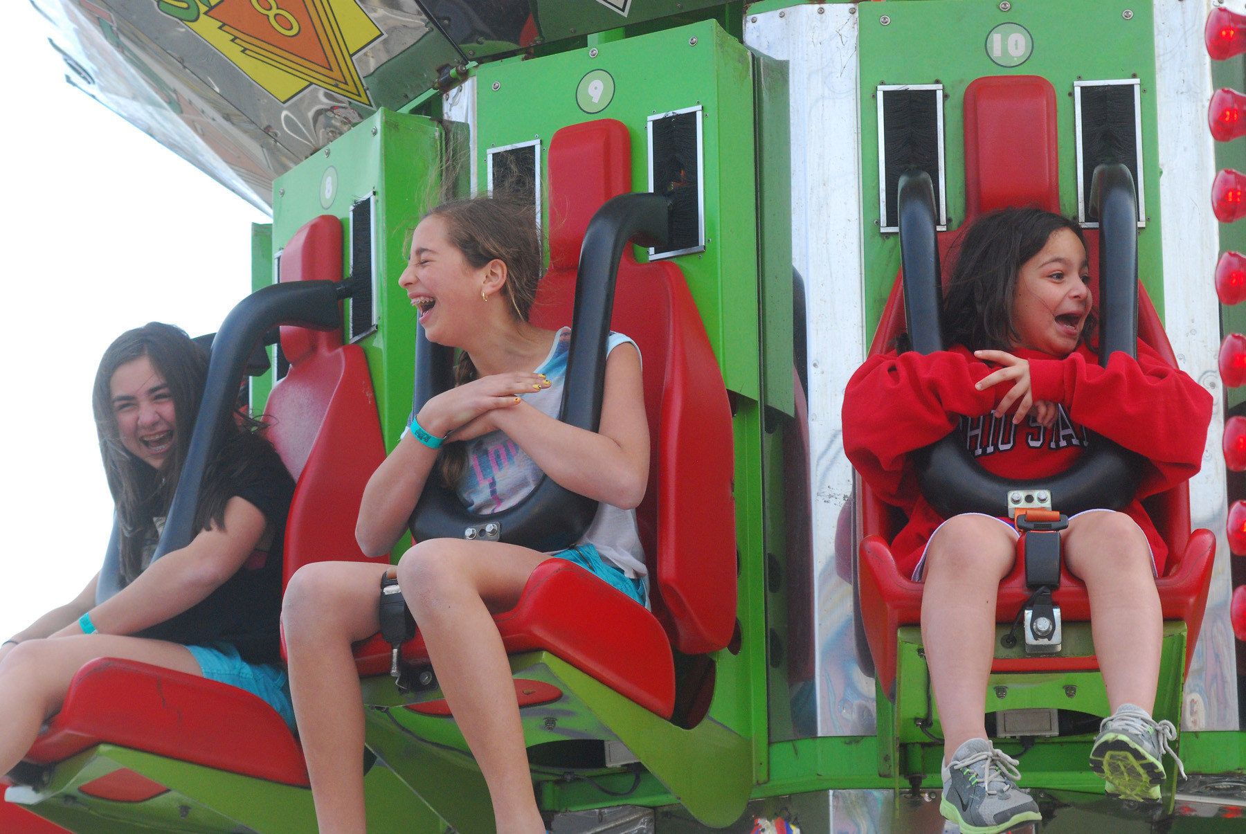Children were all smiles on the carnival rides at the Merrick Chamber of Commerce's annual Kids Fest last weekend.