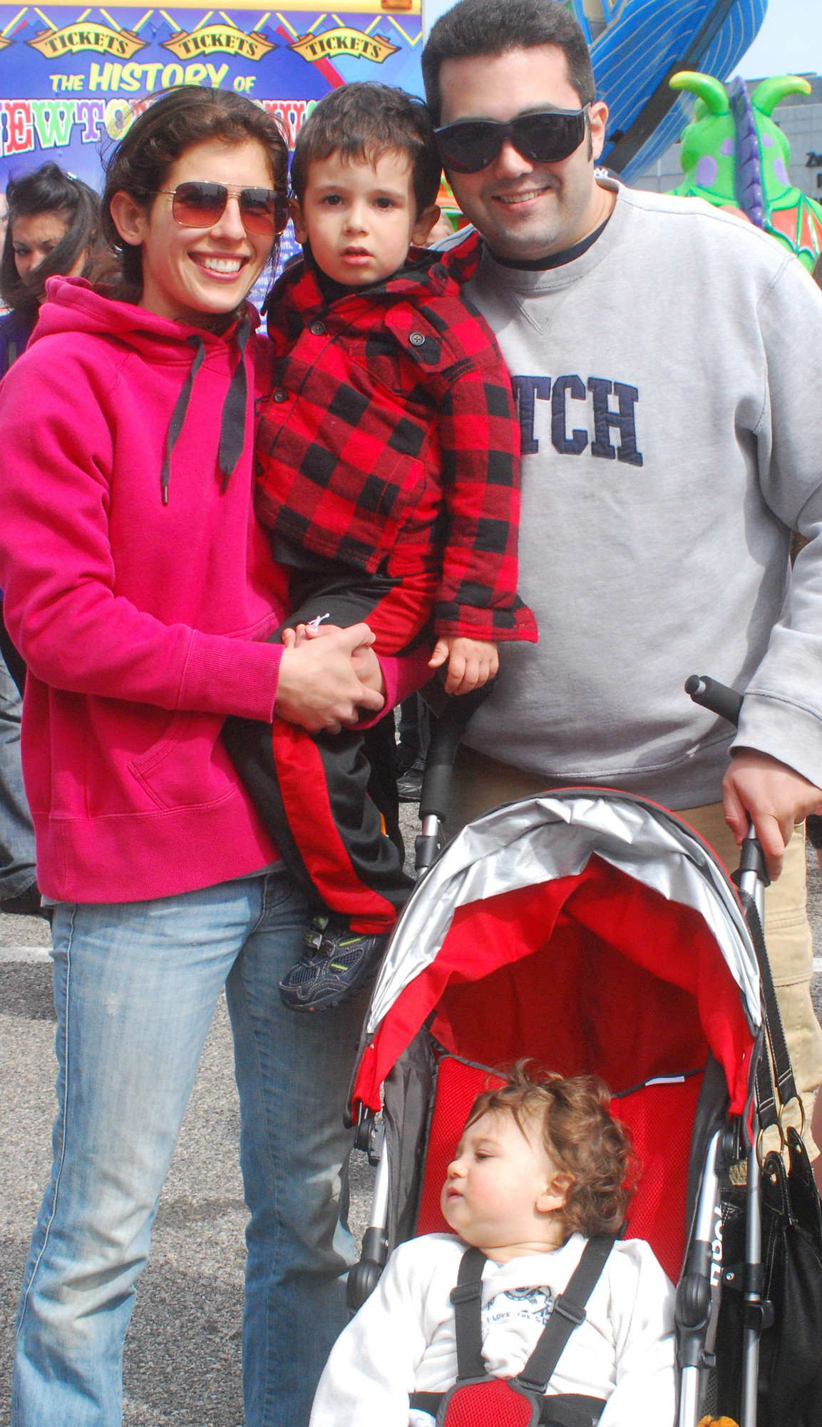 Naomi and Matt Knee of Bellmore and their kids Sammy and Jacob were among the thousands of attendees at Kids Fest.