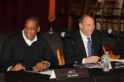 Jay-Z and the developer Bruce Ratner, representing Nassau Events Center LLC, were among those submitting plans to redevelop the Nassau Coliseum.