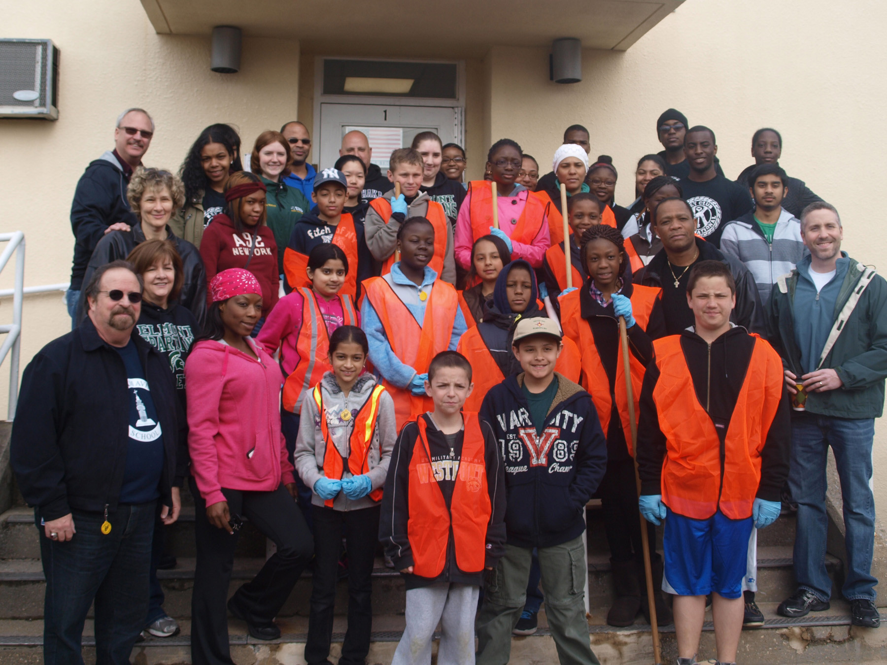 Children and adults alike helped to make the neighborhood a cleaner place for Earth Day.