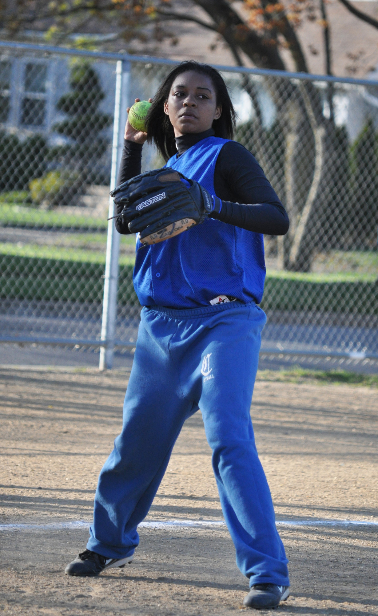 Junior Nia Outlaw is playing a steady third base and contributing with the bat for Valley Stream Central.