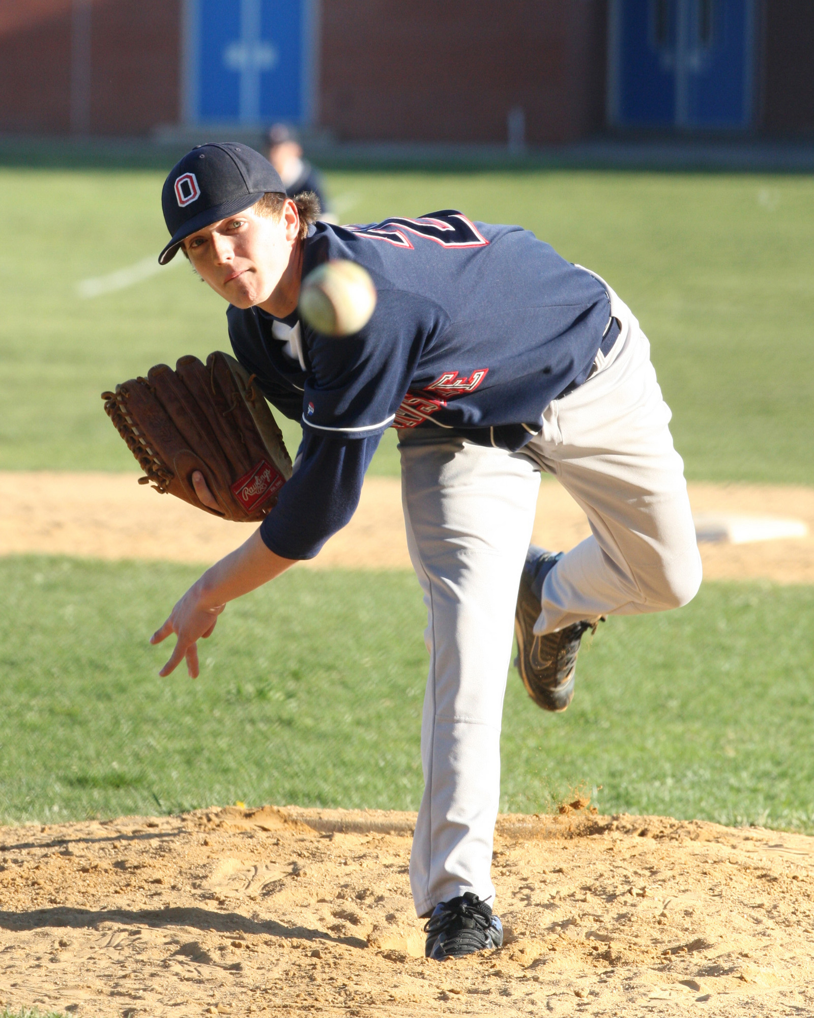 Junior Jake Santamaria fired a two-hitter May 2 at Baldwin as the Sailors completed a three-game sweep with a 3-1 victory.