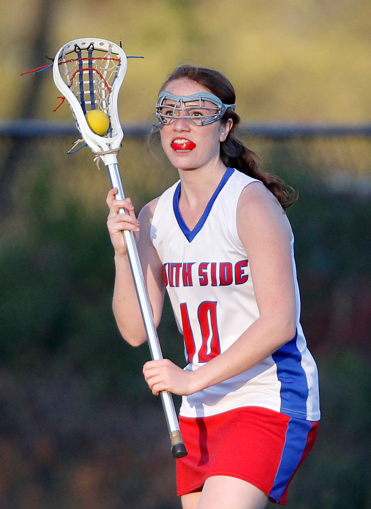 Briar Rose DeTomasso scored twice in South Side's 11-8 victory over Locust Valley last Friday.