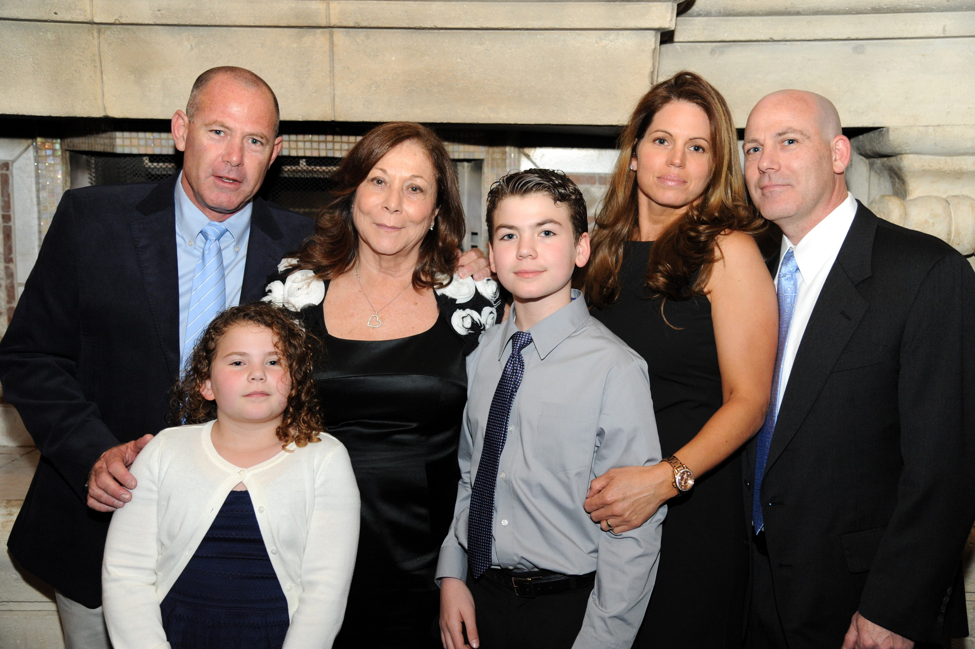 The JCC of the Greater Five Towns held its annual dinner at the Sephardic Temple on May 1. Retiring Executive Director Rina Shkolnik, third from left, with her family Tsachi Barber, Avner Barber, Einat Barber, Tom, 12, and Ella, 9.