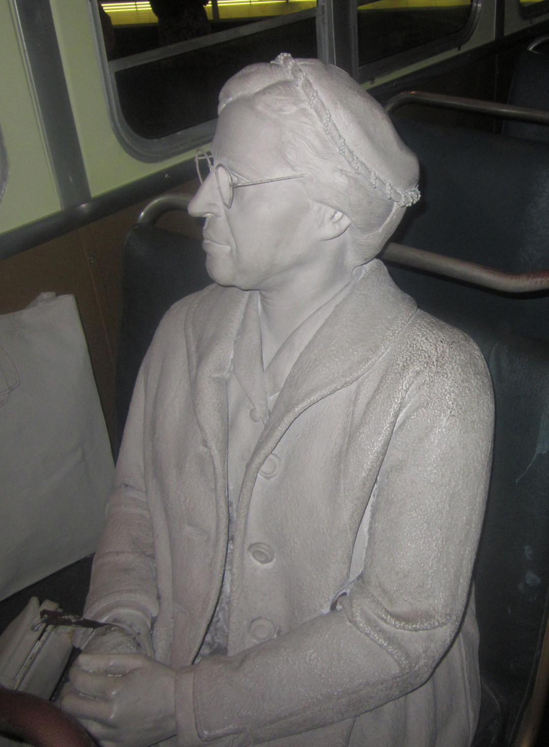 A statue commemorating Rosa Parks, the �first lady� of civil rights.