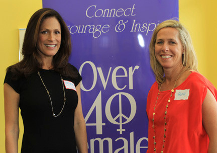 Judy Goss, 45, of Merrick, left, is founder and chief executive officer of Over 40 Females, a national networking group. She was joined by the company's chief operating officer, Beth Mercante, of Lido Beach, 45