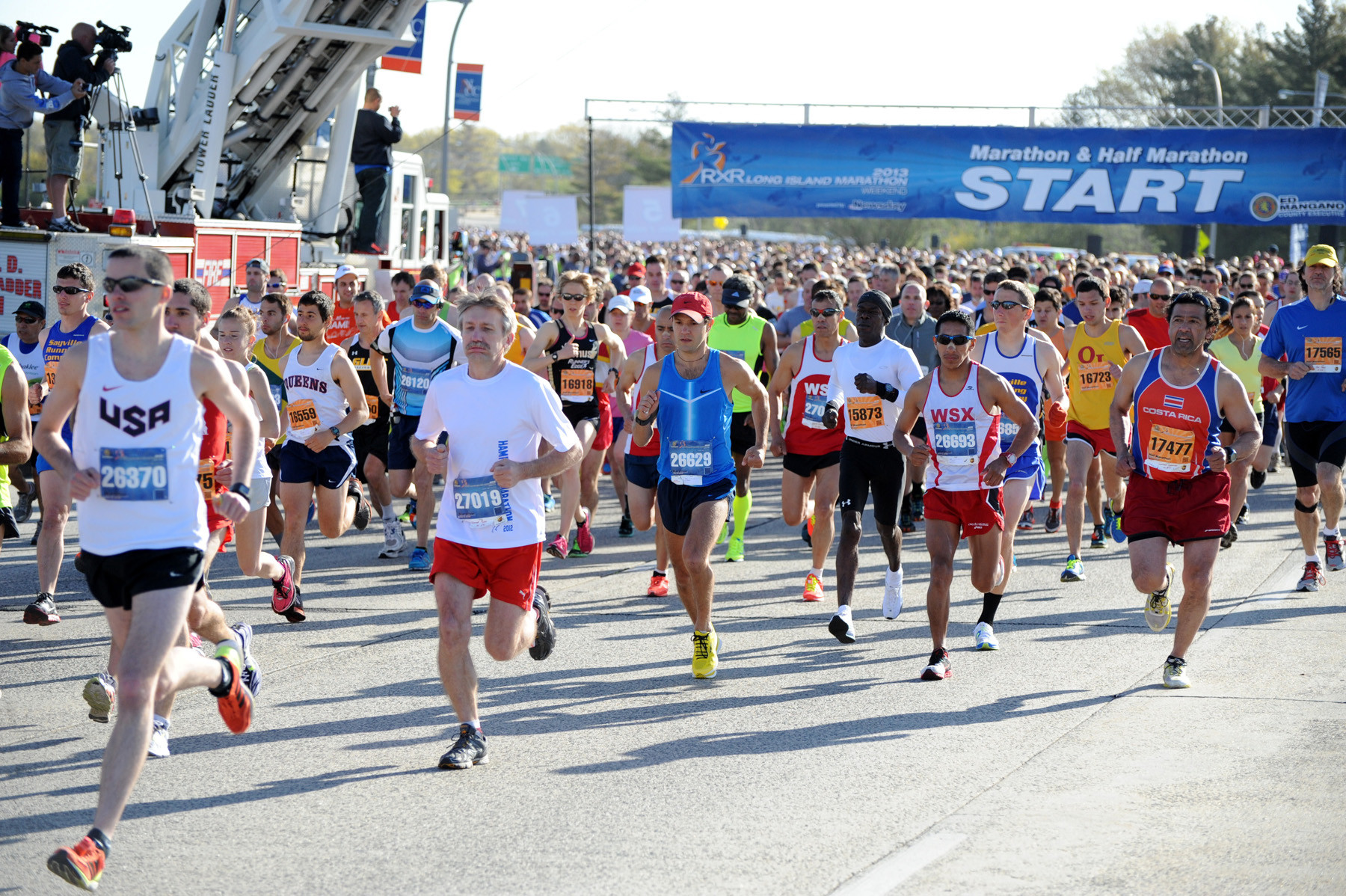 More than 8,000 runners took part in last weekend's Long Island Marathon, which began on Charles Lindbergh Boulevard in Uniondale.