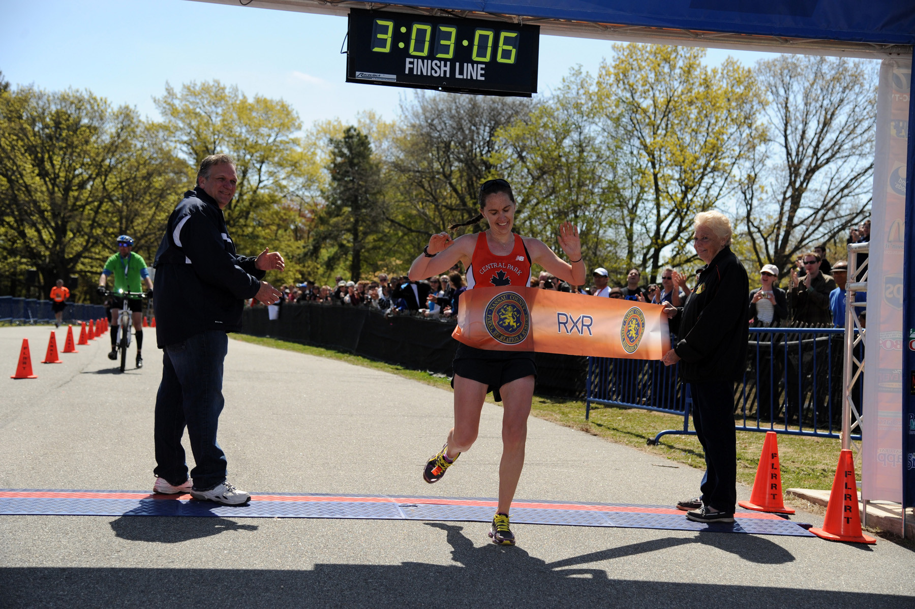 Kelly Gillen, 30, from New York City, finished first among the women at 3 hours, 3 minutes.