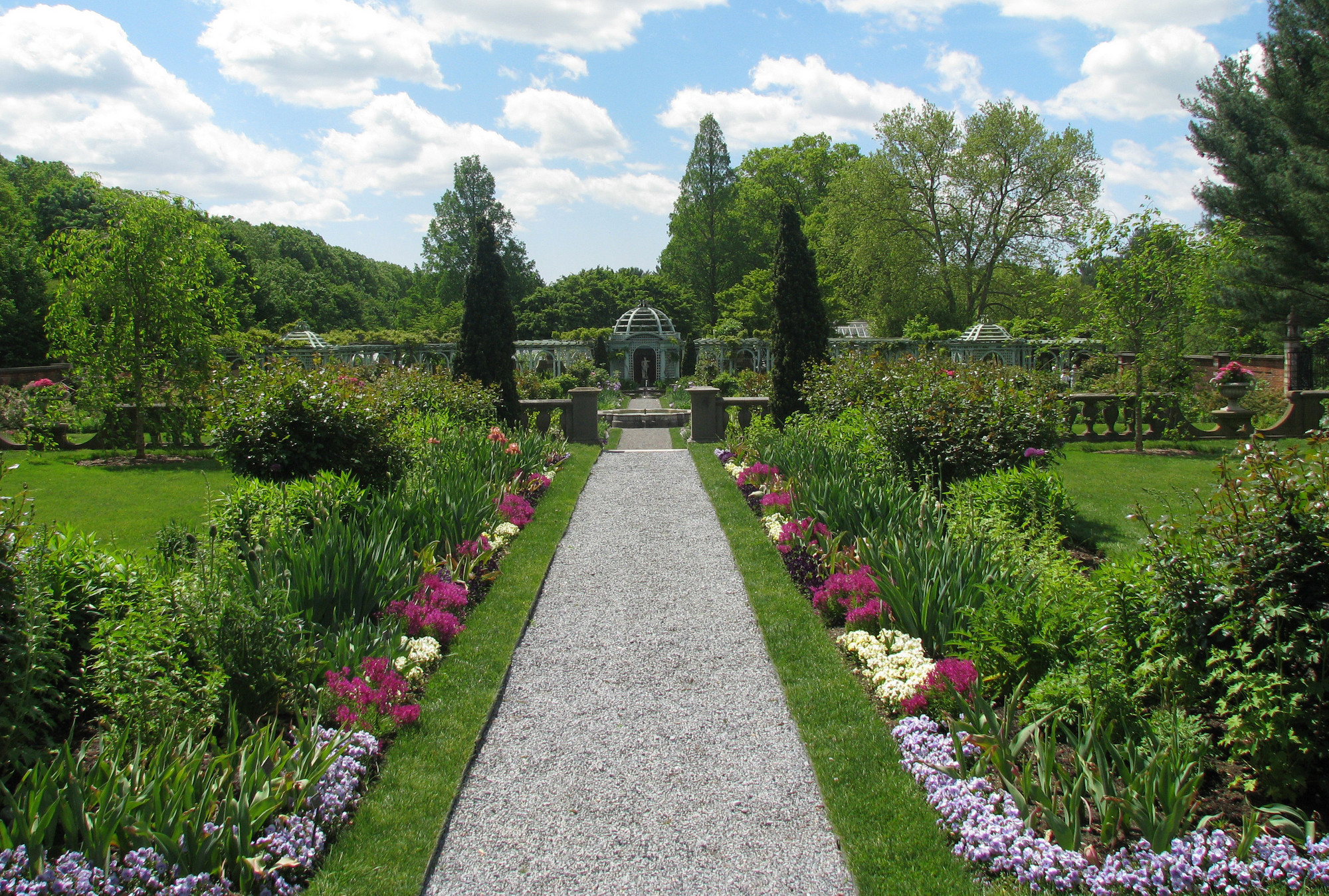 Old Westbury Gardens' Walled Garden is a popular destination for Moms this weekend.