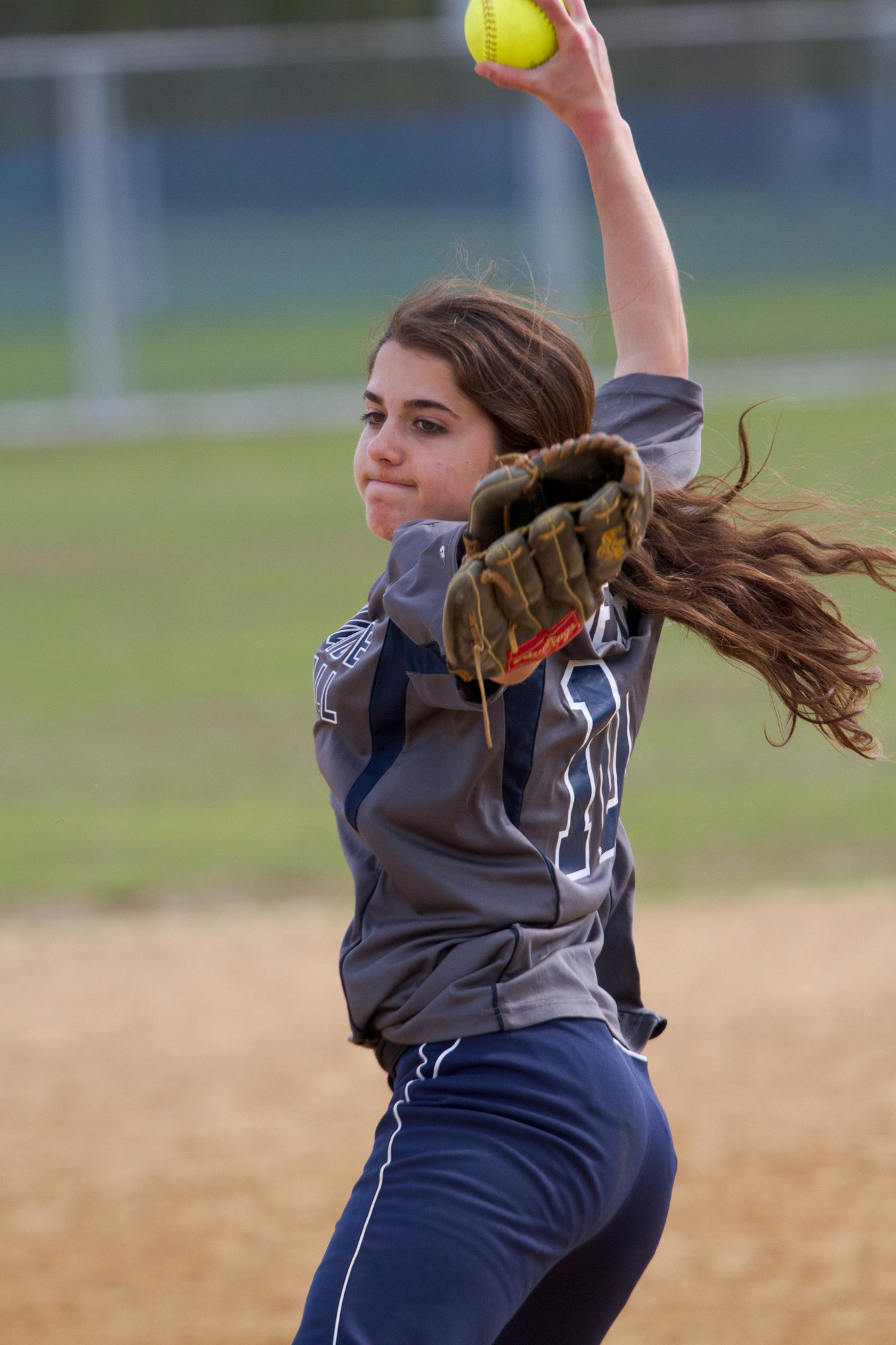 Ellen Derr got the job done in the pitching circle and at the plate in Oceanside's 2-1 win over Calhoun in a Nassau Class AA playoff game last Friday.