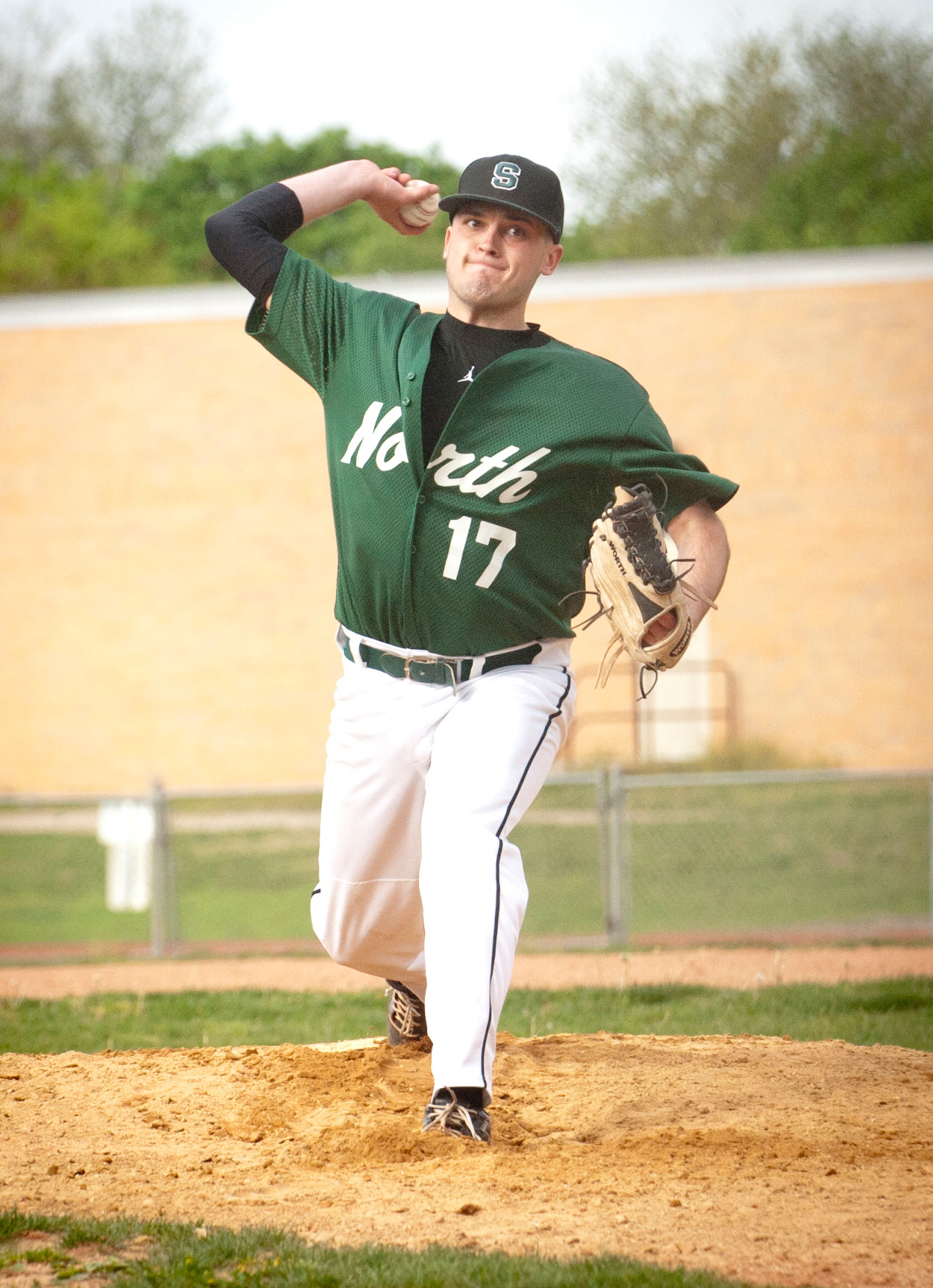 Glen Carey pitched a gem for Valley Stream North in last Monday's playoff win at Valley Stream South.